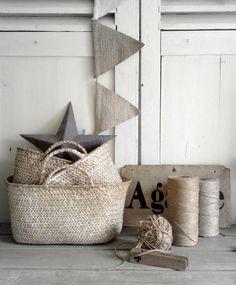 bunting, twine, baskets, star  //   Bazar & Co.