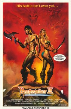 One of the greatest Conan the Barbarian rip-offs ever and definitely the most funny and entertaining! The fantasy artwork of Boris Vallejo just adds to it's awesomeness. Cult Movies, Sci Fi Movies, Horror Movies, Fantasy Movies, Sci Fi Fantasy, Cinema Tv, Kino Film, Conan The Barbarian, Adventure Movies