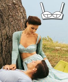 Featured Sewing Pattern ~ patterb 'Bustier Top' from BURDA  ~  FREE PDF download pattern
