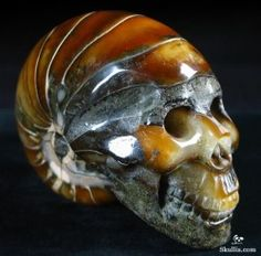 Carved ammonite skull, gosh that is clever! Crystals And Gemstones, Stones And Crystals, Human Skull, Crystal Skull, Ammonite, Rocks And Gems, Skull And Bones, Rocks And Minerals, Oeuvre D'art