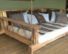 Porch Swing Bed Full by GODsRusticWorkshop on Etsy