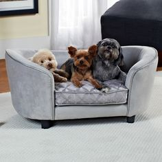 Enchanted Home Pet furniture eases your pet into a luxurious cushion that engulfs them in complete comfort and warmth.