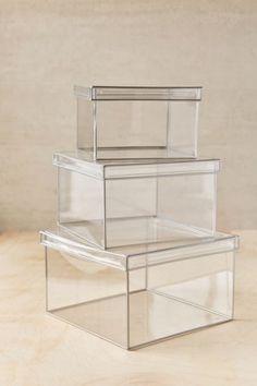 Boîte de rangement transparente