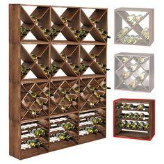 Cantinetta / scaffale per vino / sistema CUBE 50, legno massiccio, modulo standa   eBay