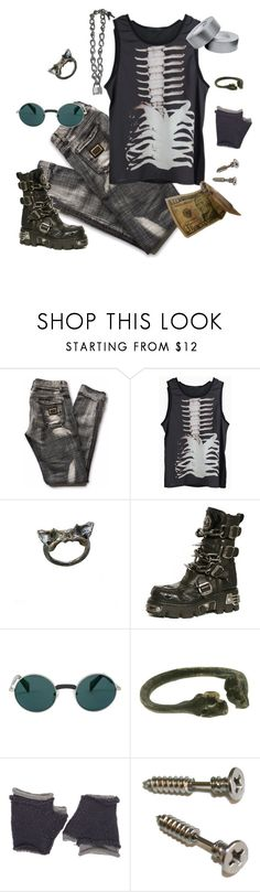 """Swamp Monster"" by vulture95 ❤ liked on Polyvore featuring Dolce&Gabbana, Vollers, Yohji Yamamoto, Lady Grey, Wooden Ships and allblack"