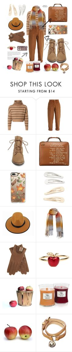 """Apple picking "" by smileystyler ❤ liked on Polyvore featuring Brunello Cucinelli, Miu Miu, Steve Madden, Tory Burch, Casetify, Kitsch, Alison Lou, WoodWick and Mulberry"