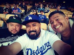 THINK BLUE: With my bro and our cousin visiting from Arizona! Miss this guy! #dodgers #brother #cousin #family #chavezravine #la #losangeles #love by perezvgp18