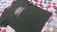 LUCKY BRAND Men T Shirt XL CALIFORNIA REPUBLIC 100%  Cotton  Short Sleeve Green  #LuckyBrandAuthentic #GraphicTee