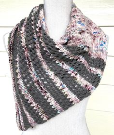 #WorldofEtsySales - Save 25% at Industrial Whimsy during the World of Etsy Sales promotion March 22nd-29th! Overcast Shawl Hand Knit Triangle Scarf Wrap Unique Scarf #PrayerShawl #Handmade #Gift #MothersDay #sale