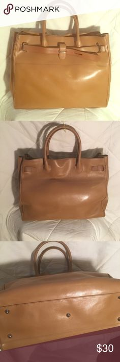 Vintage Furla Handbag Beautiful tan leather. Outside very good condition, inside leather has some cracking. Zippered inside pocket. Furla Bags Totes