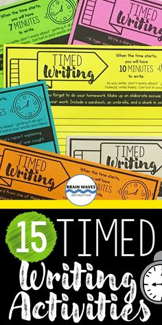 These creative writing prompts are perfect to add to any ELA classroom. You can use them as a set of daily writing prompts, as a writing unit introduction, as a way to infuse fun writing activities into the classroom, or to build community and spark a love for writing. The best part is that they are designed to help students develop communication and writing skills. Daily Writing Prompts, Creative Writing Prompts, Cool Writing, Writing Skills, Fun Writing Activities, Ela Classroom, Writers Notebook, College Classes, Brain Waves