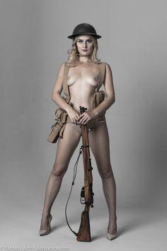 Nadia,military pinup photo set.