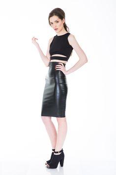 #leatherskirt  www.bluzat.ro
