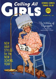 Calling all Girls (Oct 1961) - 10x14 Giclée Canvas Print of Vintage Children's Magazine by cheeseboyproducts on Etsy https://www.etsy.com/listing/153197188/calling-all-girls-oct-1961-10x14-giclee