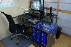Best Trending Gaming Setup Ideas - Home Decor Ideas Gaming Pcs, Gaming Room Setup, Pc Setup, Office Setup, Desk Setup, Gaming Rooms, Computer Build, Computer Workstation, Computer Setup