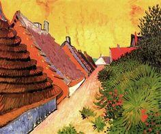 poeticasvisuais:  Vincent van Gogh, Street in Saintes-Maries