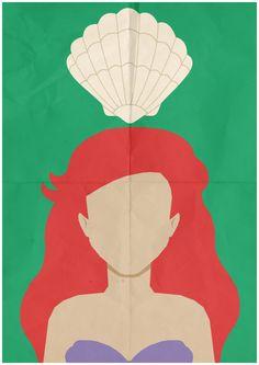 The Little Mermaid Ariel Minimalist Retro Poster by CultClassix