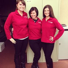 Laura, Jen and Kim sporting their snazzy Reis-Nichols fleeces.