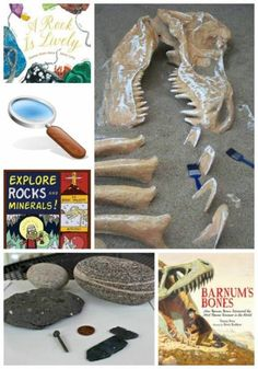 Volcanoes, Rocks & Fossils: Books and Activities for Kids Posted by Jacquie Fisher Science series -- today's science theme is Geology!This is a favorite area of science for kids for two reasons -- explosions and digging :)I don't know about your house but in ours, there are rocks everywhere! I'm not kidding -- on the science table, stacked up near the garden in the backyard, in the dryer (yep, it ...