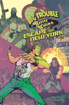 Big Trouble in Little China / Escape from New York Comic Crossover Is Actually Happening  A Big Trouble in Little China and Escape from New York crossover comic is coming this October from Boom! Studios.  According to Entertainment Weekly the comic is written by Greg Pak with illustrations from Daniel Bayliss.   Issue #1 cover (via Twentieth Century Fox / StudioCanal S.A.)  Continue reading  https://www.youtube.com/user/ScottDogGaming @scottdoggaming