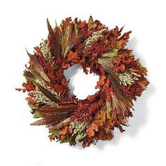 "Fall Feather Wreath - 22"" Dia. - Frontgate"