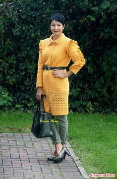 К желтому цвету отношусь очень прохладно. Можно сказать равнодушно. Люблю близкий к желтому цвету, горчичный. Возникает вопрос, почему же в моем гардеробе появился кардиган именно такого цвета.