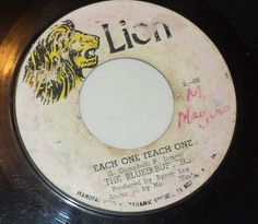 Vintage Reggae Vinyl 45 The Blues Busters Each One Teach One; Thinking of You  #LoversRock