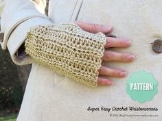Crochet Wristwarmers Pattern | Real Purdy- also really easy, just rectangles, but making them fit different hand sizes.....