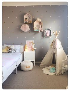 Room ideas for girls grey bedroom astounding toddler girl room appealing toddler girl room baby boy nursery ideas grey and blue Big Girl Bedrooms, Little Girl Rooms, Teenage Bedrooms, Baby Bedroom, Girls Bedroom, Baby Girl Bedroom Ideas, Kids Bedroom Ideas For Girls Toddler, Nursery Ideas, Ideas Habitaciones