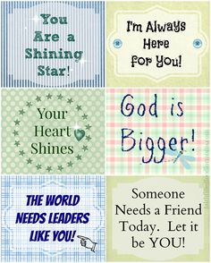 Printable Lunchbox Notes / Faith Filled Food for Moms