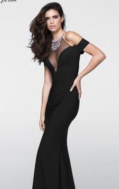 Beaded Halter Gown by Tarik Ediz 50028