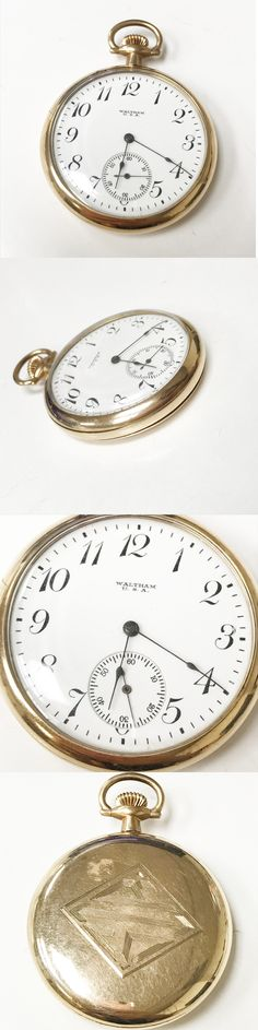 Other Pocket Watches 398: Waltham U.S.A. Size 12S 1920 7 Jewels Gold Filled Pocket Watch Antique Running -> BUY IT NOW ONLY: $225 on eBay!
