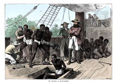 American School - African slaves being taken on board ship bound for USA Frederick Douglass, History Images, Art History, Famous Pirates, Medieval, Engraving Illustration, Black Artwork, African American History, Black History