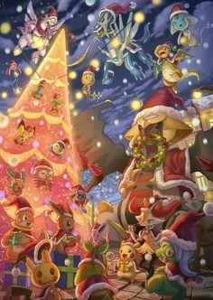 Pokemon Backgrounds, Cool Pokemon Wallpapers, Cute Pokemon Wallpaper, Animes Wallpapers, Cute Wallpapers, Pokemon Craft, Pokemon Fan, Christmas Pokemon, Pokemon Painting