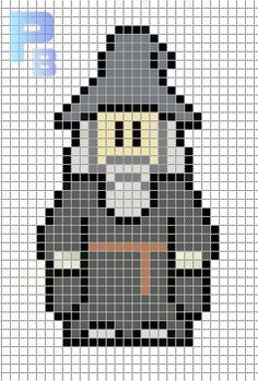 Gandalf Lord of Rings perler pattern - Patrones Beads / Plantillas para Hama