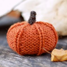 Knitted pumpkin + SO CUTE! :D <3 Found through http://gracesgardenwalk.blogspot.com/