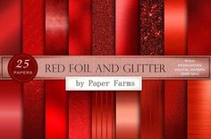Red foil and glitter by Paper Farms in Graphics Textures A collection of 25 red textures including foil, glitter, brushed metal, and vintage metallic red. Includes 25 high resolution dpi) 12 x 12 inch jpegs. Brushed Metal, Red Glitter, Pencil Illustration, Paint Markers, Business Card Logo, Watercolor And Ink, Scrapbook Paper, Free Design, Design Projects