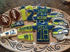 Seattle Seahawks Cookie Platter - available to order, see my blog for details!