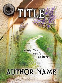 Winding Path & Old Paper & Quill - A Springtime Novel | Customizable Book Cover by RLSather | SelfPubBookCovers: One-of-a-kind premade book covers where Authors can instantly customize and download their covers, and where Artists can post a cover and name their own price.