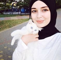 Chechen Muslimah and Kitty Friend