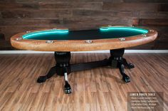 The Lumen HD Poker Table, available with an almost infinite number of customization combinations, changes the feel and mood of your game instantly. Custom Tables, Light Table, Poker Table, Cool Furniture, Engineering, Lights, Led, Shape, Awesome