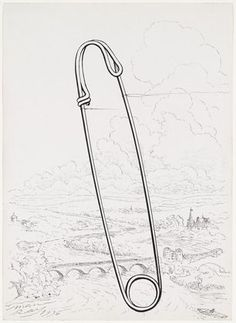 Man Ray ~ Safety Pin, 1936 (ink and pencil) Man Ray, Francis Picabia, High Art, Doodle Drawings, Mark Making, Film Stills, Moma, Art Photography, Street Photography