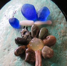 pebble art pebbleart painted rock stone ocean beach butterfly agate