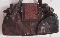 Vintage/Retro Leather Handbag. Quality Large Brown Leather