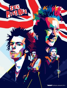 Sid Vicious + Johnny Rotten wpap by difrats