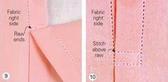 How to sew a perfect placket. NOTE: This placket may only be used on fabrics with no apparent wrong side.