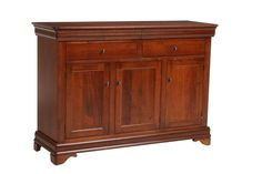 Amish Versailles Sideboard - The subtle curves and beautiful details of our Versailles Sideboard are sure to spruce up any bedroom or dining room.
