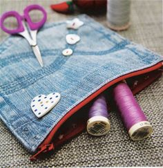 How to make a Denim Pocket Purse From an Old Jeans