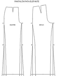 Documento sin título Pants Pattern Free, Free Pattern, Sewing Collars, Couture, Palazzo Pants, Sewing Clothes, Wide Leg Pants, Dress Patterns, Diy And Crafts