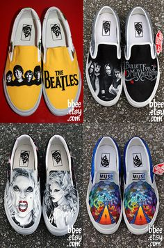 DESIGN YOUR OWN Custom Hand Painted Shoes by BBEE on Etsy// TOTALLY WANT THE BULLET FOR MY VALENTINE ONES